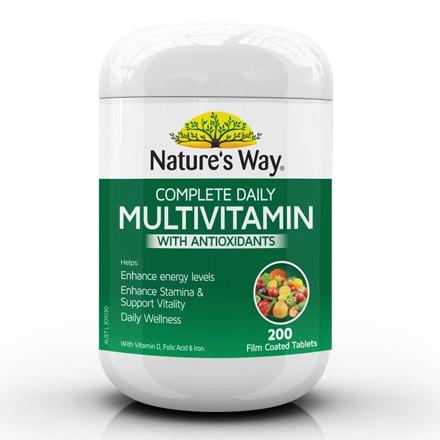 NATURE'S WAY MULTIVITAMIN WITH ANTIOXIDANTS 200 VIÊN