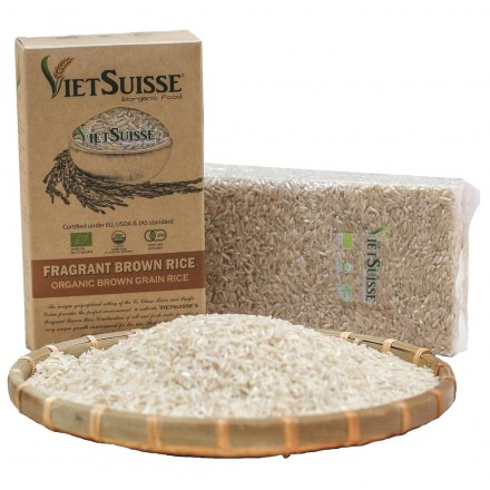Gạo lứt hữu cơ Vietsuisse 1kg