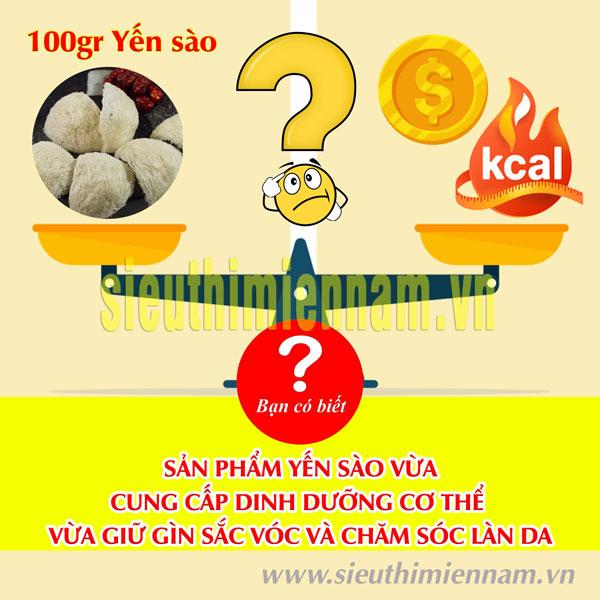 100gram (01 lạng) yến sào giá bao nhiêu?
