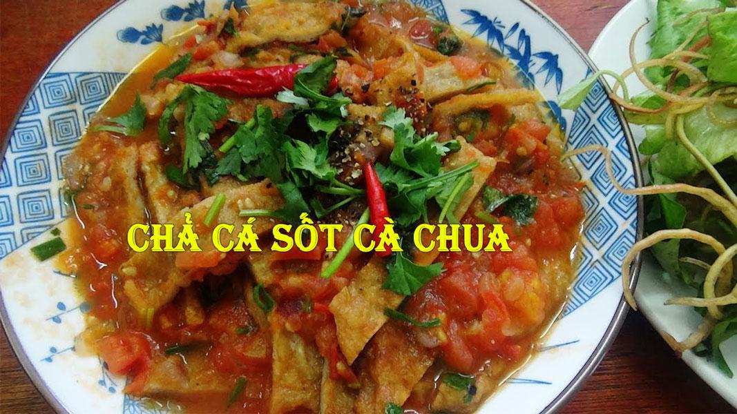chả cá Nha Trang sốt cà chua