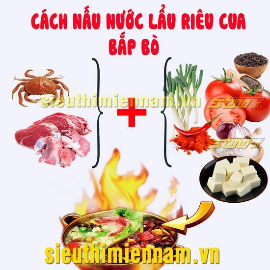 Cách nấu nước lẩu riêu cua bắp bò sườn sụn