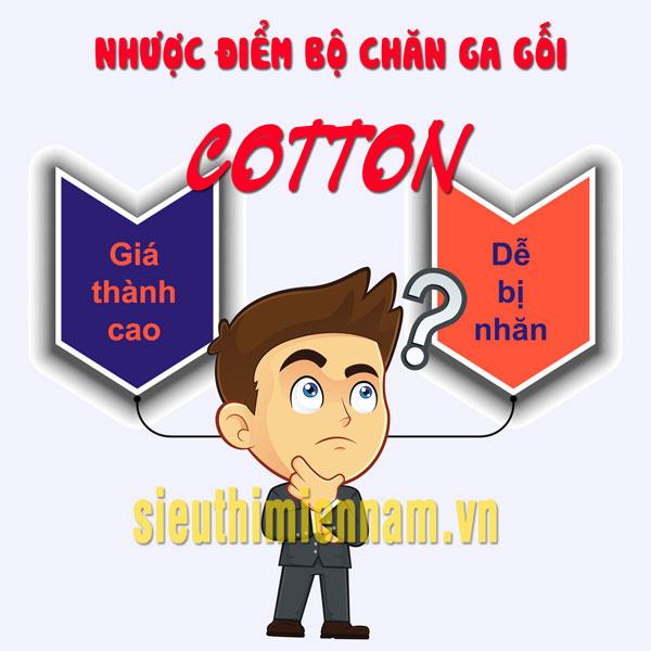 nhược điểm của bộ chăn ga gối cotton