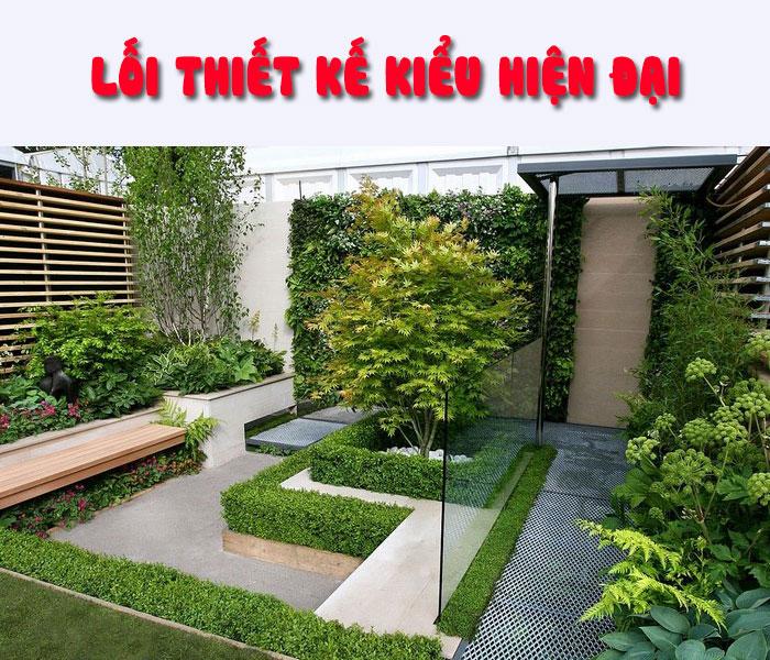 Thi công sân vườn phong cách hiện đại
